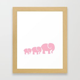 Pink Elephants Framed Art Print