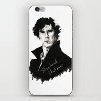 sherlock holmes iPhone & iPod Skins featuring Sherlock Holmes by StarshipRanger
