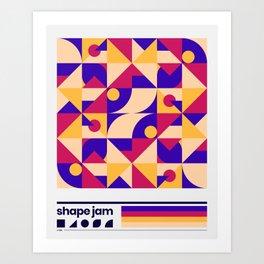 shape jam nº001 Art Print