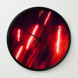 Crimson rockets Wall Clock