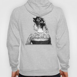 Tattooed Victorian Woman Hoody
