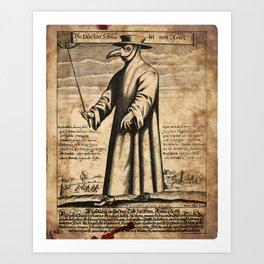 Medieval plague doctor Art Print