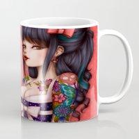 rockabilly Mugs featuring Rockabilly Girl ! by Christine Alcouffe