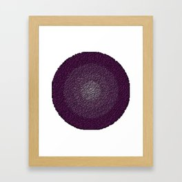 purple stones Framed Art Print