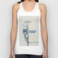 vodka Tank Tops featuring Vodka remedy by Tony Vazquez