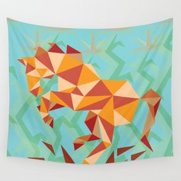 Dancing Mustang // Digital // Illustration Wall Tapestry