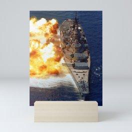 Battleship USS Iowa Broadside - 1984 Mini Art Print