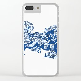 Lucky Lion Clear iPhone Case
