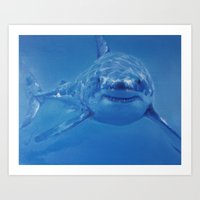 shark Art Prints featuring Shark by Piotr
