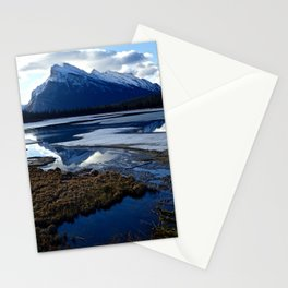 Rundle Mountain Reflections Stationery Cards