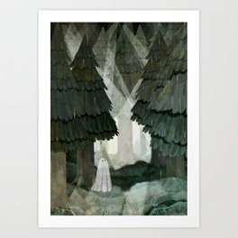 Pine Forest Clearing Art Print