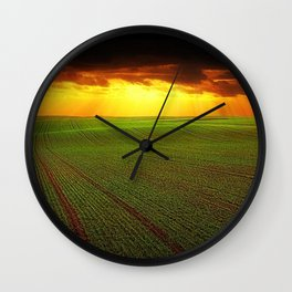 Late Summer New England Sunset Wall Clock