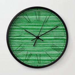 Bright Pastel Green Wood Beach House Cladding Wall Clock
