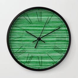 Bright Pastel Green Wood Beach House Cladding Wall Clock