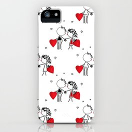 Give love . White . iPhone Case