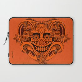 Halloween Crazy Heart Laptop Sleeve