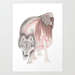 Run With The Wolf Art Print