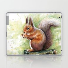 Squirrel and Nut Forest Animals Watercolor Laptop & iPad Skin