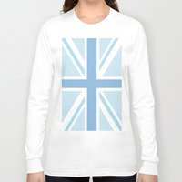 union jack Long Sleeve T-shirts featuring Blue Union Jack by Alesia D