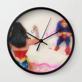 Cuffs or Lasso? Wall Clock