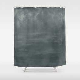Burst of Color Night Watch Dark Green Abstract Watercolor Blend Shower Curtain