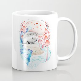 Hedgehog in Mushrooms Coffee Mug