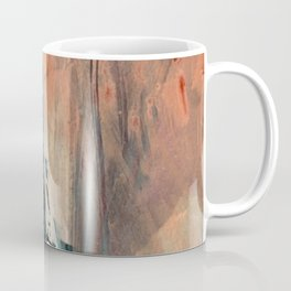 Same Stars [2] - an abstract mixed media piece in blues, pinks, and black Coffee Mug