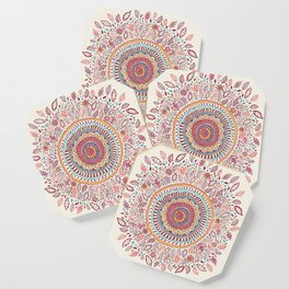 Sunflower Mandala Coaster