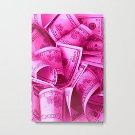 Pink Barbie Benjamins Metal Print