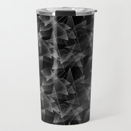 Abstract pattern.the effect of broken glass.Black background. Travel Mug
