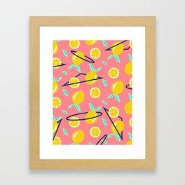 Lemons party #society6 #decor #buyart Framed Art Print