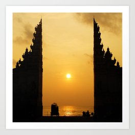 Candi Bentar Sunset Art Print