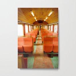 Vintage Train Metal Print