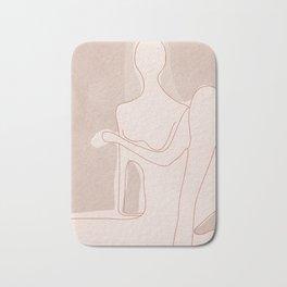 Abstract Woman Figure Bath Mat