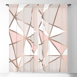 Rose Gold Perseverance Blackout Curtain