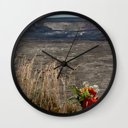 offering for volcano goddess Pele Wall Clock