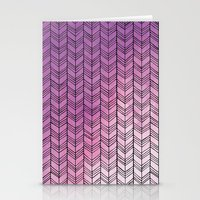 herringbone Stationery Cards featuring Herringbone by Tooth & Nail Designs