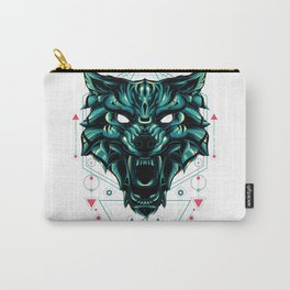 The green wolf sacred geometry Carry-All Pouch
