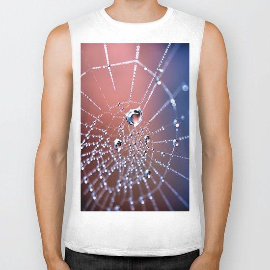 Spiders Necklace Biker Tank