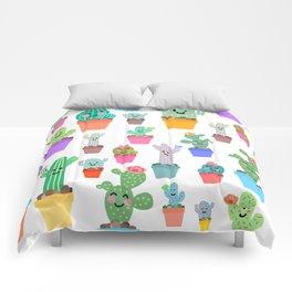Sunny Happy Cactus Family Comforters