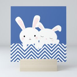 White rabbits Mini Art Print