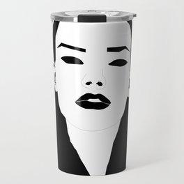 Lady in Black Travel Mug