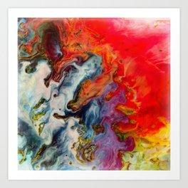 Abstract fire Art Print