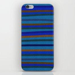 Denim Stripes in Blue, Tan, Cyan & Chocolate iPhone Skin