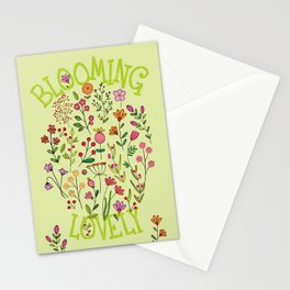 Doodles Botanical (pretty floral pattern) Stationery Cards