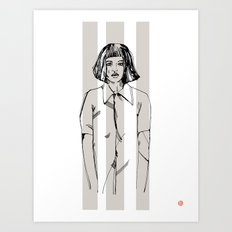 First Hello No.1 (grey) Art Print