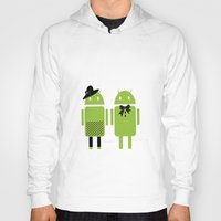 android Hoodies featuring android couple by Grazemee