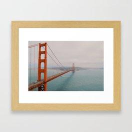Golden Gate into San Fran. Framed Art Print