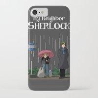johnlock iPhone & iPod Cases featuring My neighbor Sherlock by AcidBurn