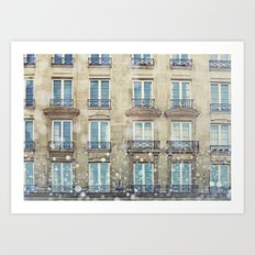 Paris Windows Art Print